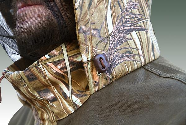Встроенная в капюшон противомоскитная сетка